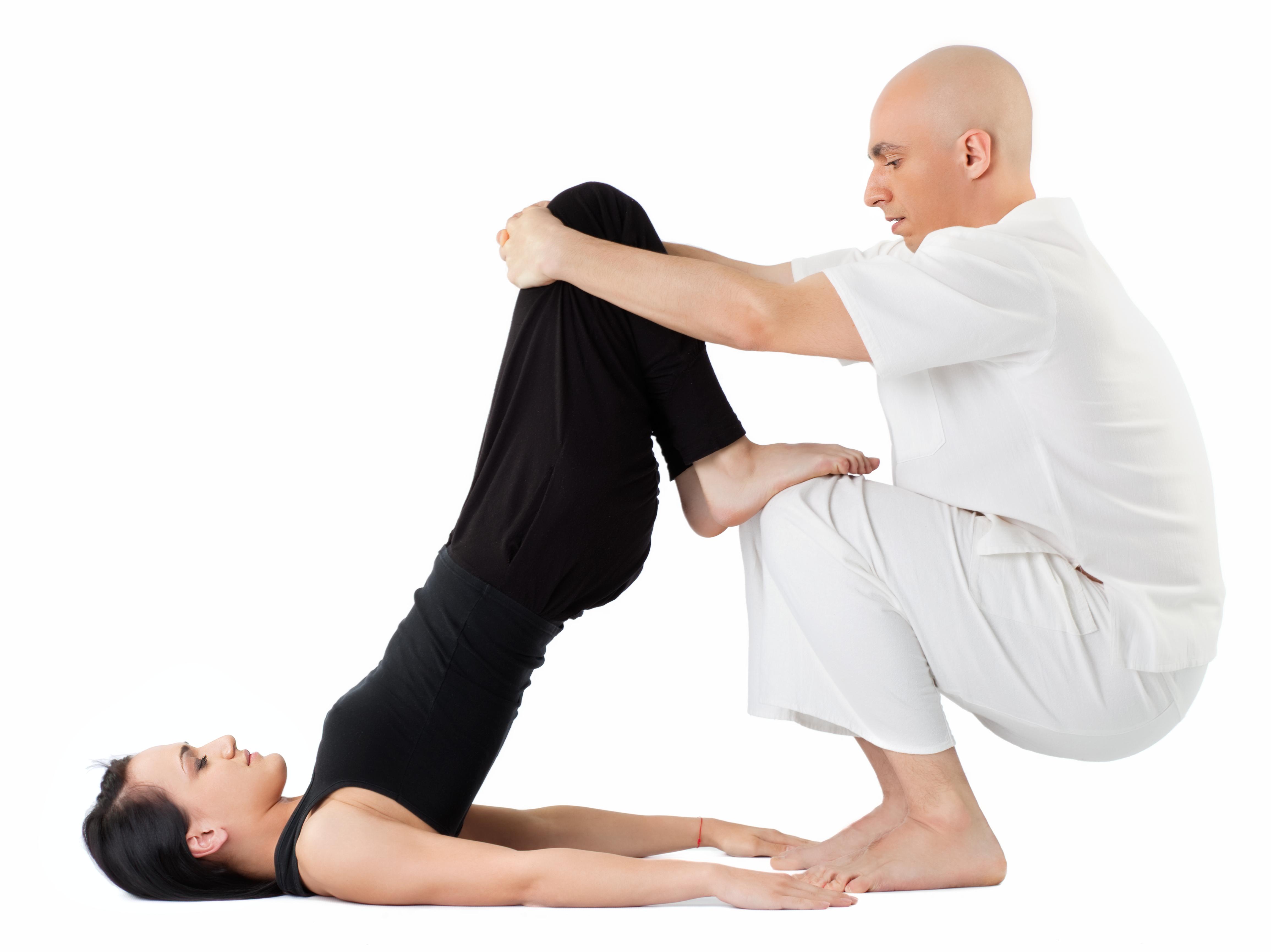 Thai massage stretch 3